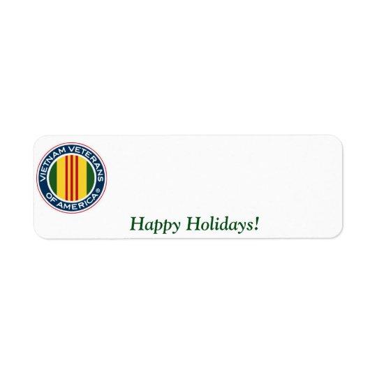 Vietnam Veterans of America Holiday Label #2