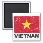 Vietnam Vintage Flag Magnets