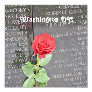 Vietnam Wall Memorial Personalized Invitation Card