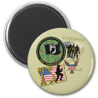 Vietnam War 6 Cm Round Magnet