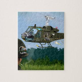 Vietnam War Bell Huey. Jigsaw Puzzle