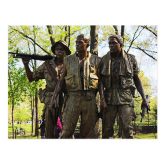 Vietnam War Memorial Postcard