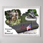 Vietnam War Memorial Print