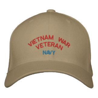 VIETNAM WAR VETERAN, NAVY EMBROIDERED HAT