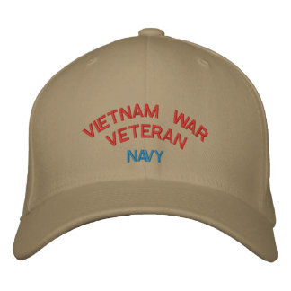 VIETNAM WAR VETERAN, NAVY EMBROIDERED HAT
