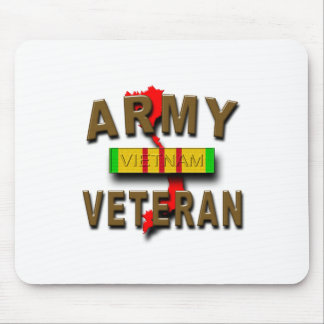 Vietnam War Veteran Service Ribbon, ARMY Mouse Pad