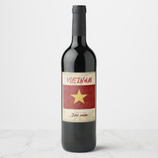 Vietnam Wine Label