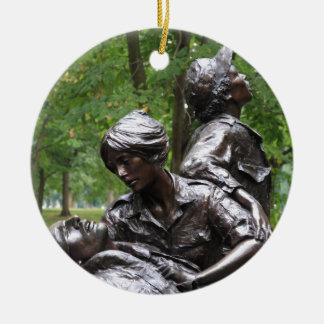 Vietnam Womens Memorial Round Ceramic Decoration