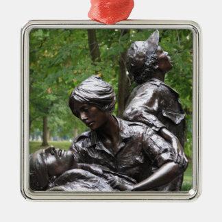 Vietnam Womens Memorial Silver-Colored Square Decoration