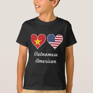 Vietnamese American Flag Hearts T-Shirt