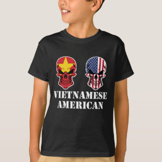 Vietnamese American Flag Skulls T-Shirt
