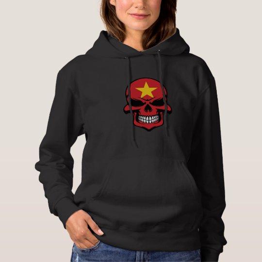 Vietnamese Flag Skull Hoodie