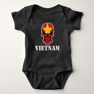 Vietnamese Flag Skull Vietnam Baby Bodysuit