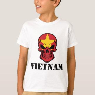 Vietnamese Flag Skull Vietnam T-Shirt