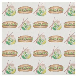 Vietnamese Food Chicken Pho Pork Banh Mi Sandwich Fabric
