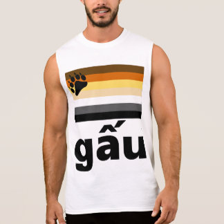 Vietnamese (gấu)  Gay Bear Pride Flag Sleeveless Shirt