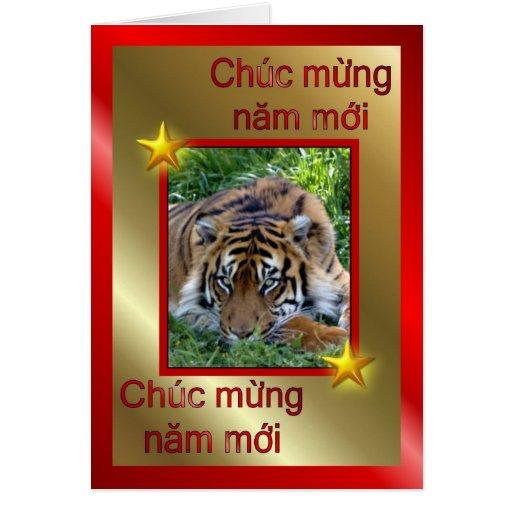 VIETNAMESE HAPPY NEW YEAR - WRITTEN IN VIETNAMESE CARDS