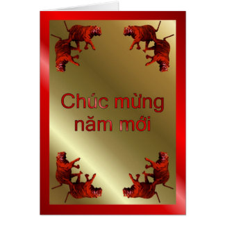 VIETNAMESE HAPPY NEW YEAR - WRITTEN IN VIETNAMESE GREETING CARDS