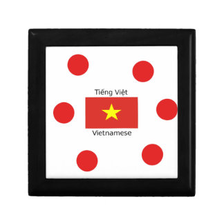Vietnamese Language and Vietnam Flag Design Gift Box