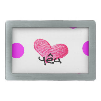 Vietnamese Language of Love Design Belt Buckles