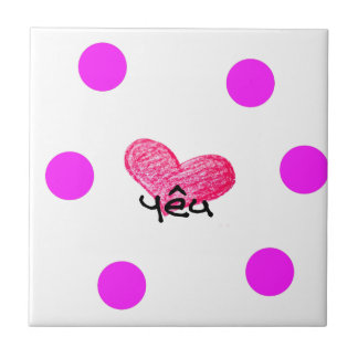 Vietnamese Language of Love Design Tile