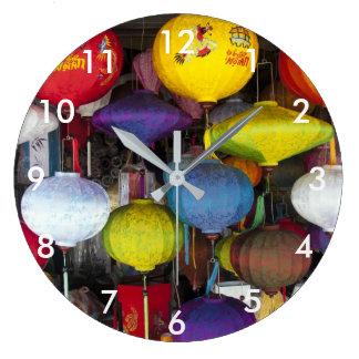 Vietnamese lanterns large clock