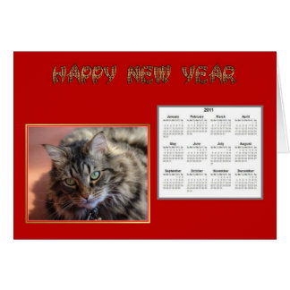 Vietnamese New Year of the cat Happy New Year 2011 Greeting Card