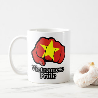 Vietnamese Pride Flag Fist Proud Coffee Mug