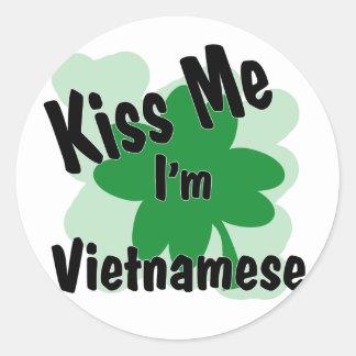 vietnamese round stickers