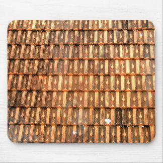 Vietnamese terracotta roof tiles mouse pad