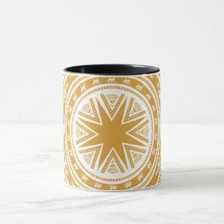 Vietnam's drum pattern mug
