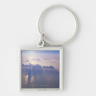 View above dense cloud keychains