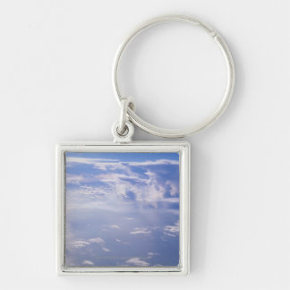 View above scattered cloud key chains