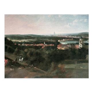 View across Greenwich Park towards London Postcard