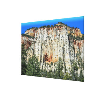 View Along Mt. Carmel Highway Canvas Print