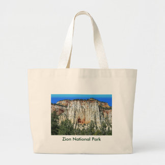 View Along Mt. Carmel Highway Large Tote Bag