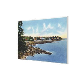 View Along Ocean Point, Homes by the Sea Canvas Print