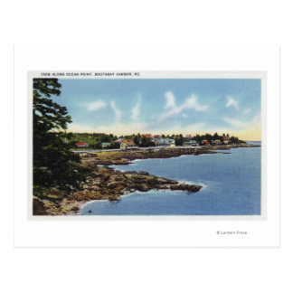 View Along Ocean Point, Homes by the Sea Postcard