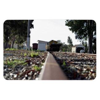 View along rail bridge flexible magnets