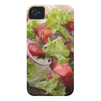 View angle on a fragment of vegetarian salad iPhone 4 Case-Mate cases