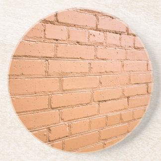 View angle on the brick wall coaster