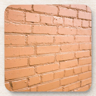 View angle on the brick wall drink coaster