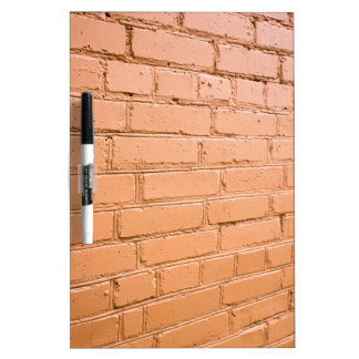 View angle on the brick wall dry erase board