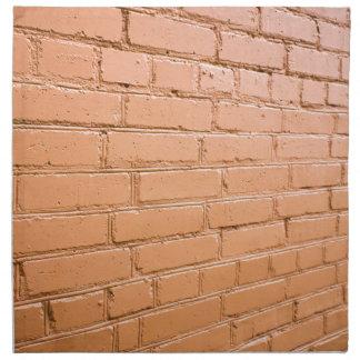 View angle on the brick wall napkin