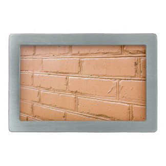 View angle on the red brick wall belt buckle