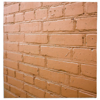 View angle on the red brick wall napkin