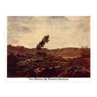 View Barbizon By Theodore Rousseau Postcard