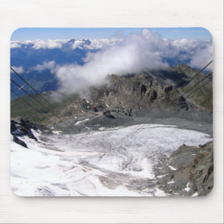 View down the Mont Fort glacier Mouse Pad
