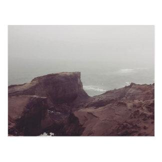 view from a coastal hill postcard