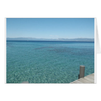 View from a Dock at Lake Tahoe Greeting Card